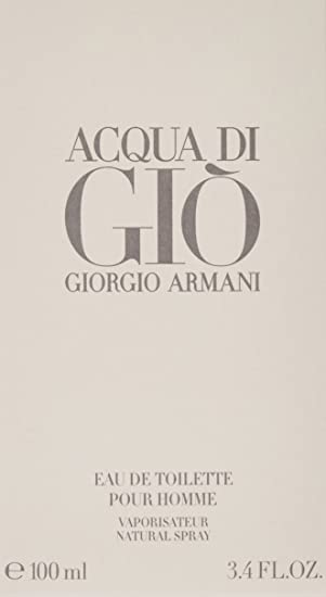 Acqua Di Gio By Giorgio Armani for Men, Eau De Toilette Spray 3.4 Fl Oz