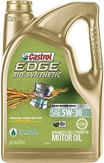 Castrol 03555 EDGE Bio-Synthetic 5W-30 Advanced Full Synthetic Motor Oil, 5 quart, 1 Pack