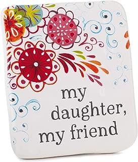 Hallmark Daughter Friend Ceramic Quote Block, 2.5x3 Plaques & Signs Family