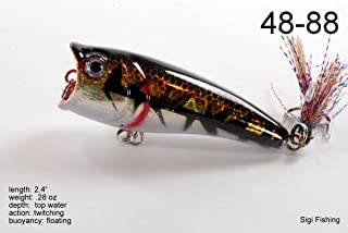 (Two of One Colour, Holographic Grizzly Bear) - Akuna Top Dog Series 6.1cm Popper Lure