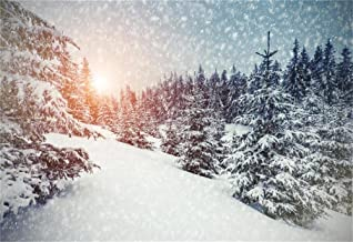 AOFOTO 7x5ft Snow Forest Backdrop Winter Party Decorations White Fir Wood Snow-Covered Pine Trees Snowing Photography Background Snowfall Landscape Snowy Christmas 2020 Photo Studio Props Vinyl