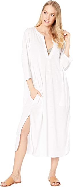 Farlini Linen Jersey Cover-Up Dress