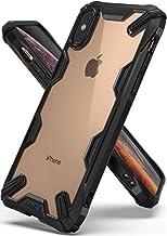 Ringke Fusion-X Funda Compatible con Apple iPhone XS y Funda iPhone X, Ergonómico Protector TPU Back Claro PC La Tecnología de Absorción de Golpes Cover - Negro Black