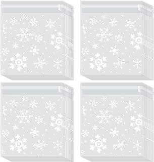 snowflake cellophane treat bags
