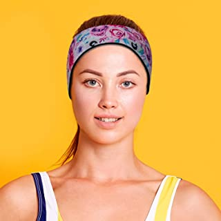 Will & Fox Swimming Headband with Earplugs for Adults Helps Prevent Swimmers Ear   Non-Slip Grip   Adjustable Ear Band   F...