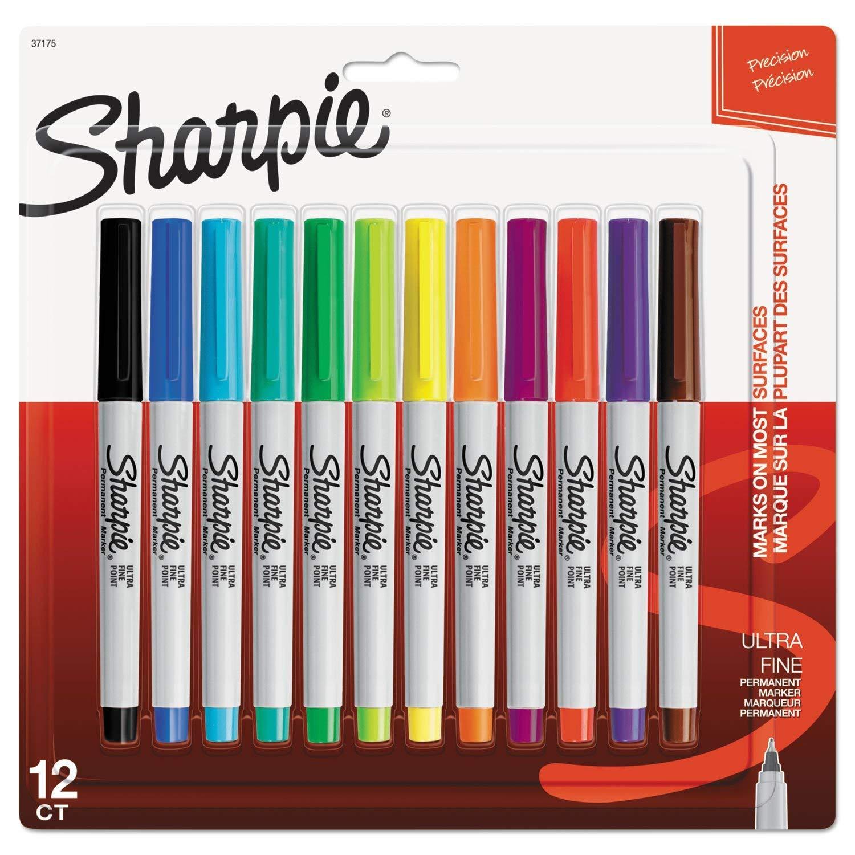 Assorted Colours Sharpie Fine Marker Pen Pack of 4