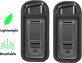 Anjilu 2-Pack Universal Magazine Holster IWB Clip Concealed Carry 9mm .40 .45 | Mag Holster for Glock 19 43 17 Sig 1911 S&W M&P | Fits Any 7 10 15 Round Clips for All Pistols | Gun Ammunition Holster