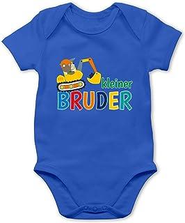 Shirtracer Geschwisterliebe Baby - Kleiner Bruder Bagger - Baby Body Kurzarm für Jungen und Mädchen