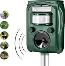 FAYINWBO 11 Solar Outdoor Animal Repeller, Motion Activated Alarm and FLA, 501