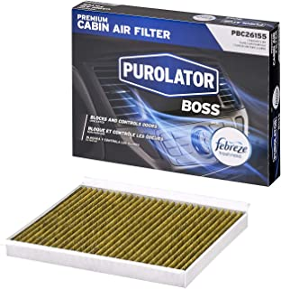 Purolator PBC26155 PurolatorBOSS Premium Cabin Air Filter with Febreze Freshness