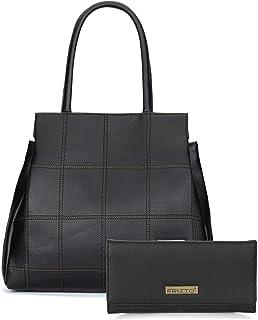 Fristo Women's Handbag & Clutch(Black)