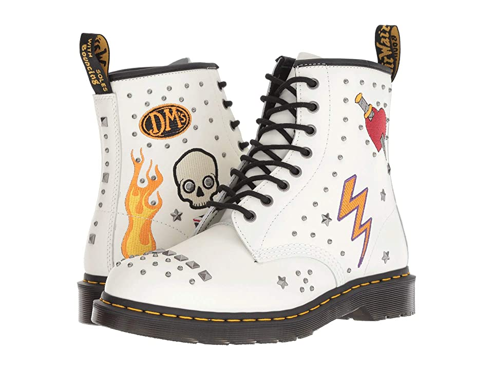 Dr. Martens 1460 Rock Roll (White Smooth) Boots