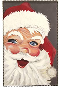 The Round Top Collection - Vintage Jolly Santa -Metal & Wood