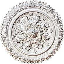 Decor PU Moulding 100% Higher Density Polyethylene 12 3/5 inch Ceiling Medallions for Chandeliers Light Ceiling Medallion for Ceiling Fans 12 3/5