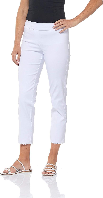 SLIM-SATION Women's Solid Crop Pant