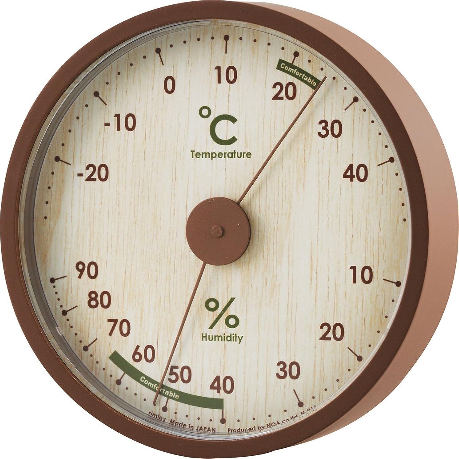 プラス塊改修NOA 温度湿度計Ashley(アシュリー) ナチュラル N-016 N