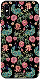 Macmerise IPCIXMTPS1488 Payal Singhal Anaar and Mor Black - Tough Case for iPhone XS Max - Multicolor (Pack of1)