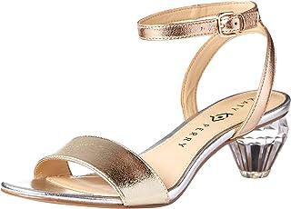 Katy Perry Women's The Emerald Heeled Sandal, Metallic Combo, 7.5 M US