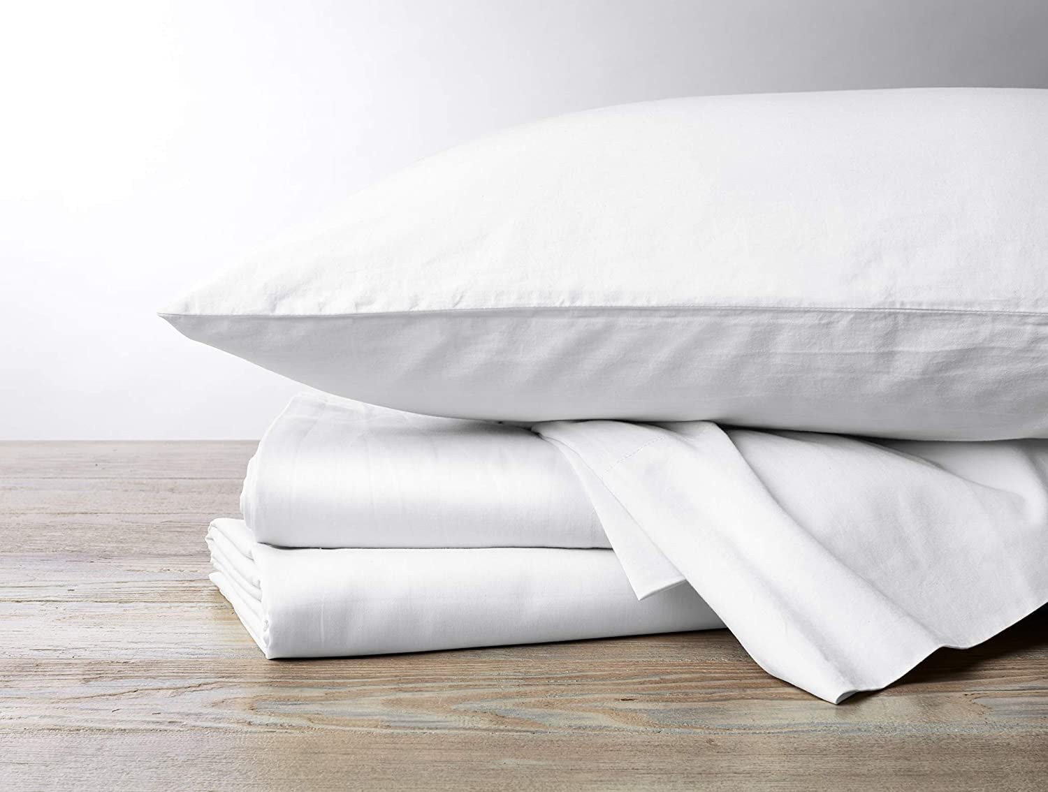 Coyuchi 300 Thread Count 100 Organic Sateen Sheet Set Gots Certified Twin Alpine White Home Kitchen