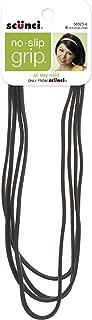 Scunci No-slip Grip Flat Black Headwraps, 9mm
