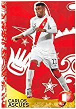 2016 Panini Copa America Centenario Soccer Sticker #425 Carlos Ascues Peru 2 Inch wide X 3 inch tall album sticker