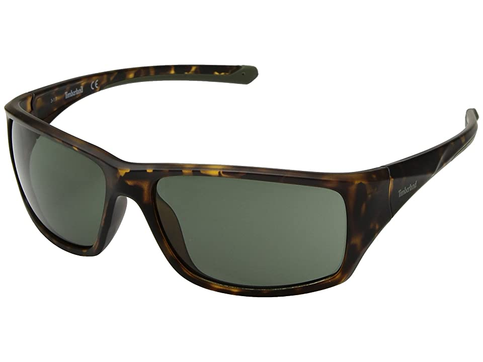 Timberland TB7152 (Dark Havana/Green) Fashion Sunglasses