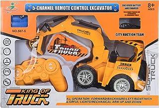 Rc 567-5 5-Channel Remote Control Excavator Car For Boys, Orange Black