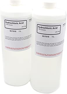 Hydrochloric Acid Solution, 1.0M, 1L, Case of 2 - The Curated Chemical Collection