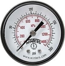 Winters PEM Series Steel Dual Scale Economy Pressure Gauge, 0-200 psi/kpa, 1-1/2