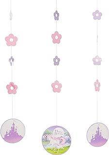 Creative Converting 995603 Fantasy Unicorn Hanging Cutouts (3 Count), One Size, Multicolor