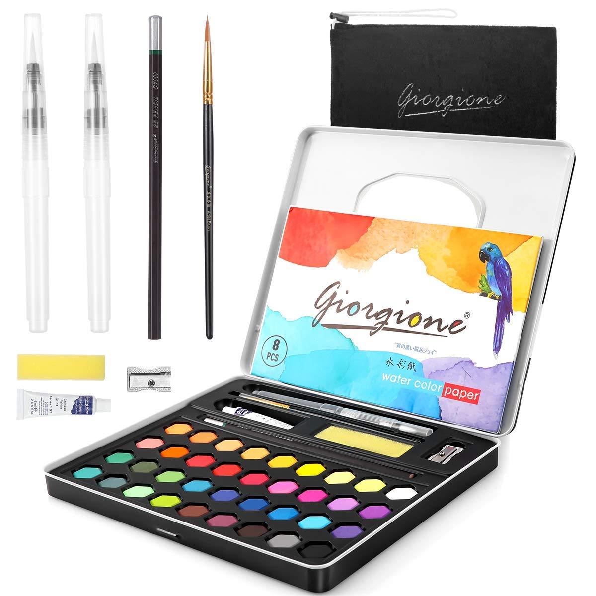 AGPTEK 36 Colores Kit de Pintura de Acuarela, Set de Acuarelas Profesional para Artistas Principiantes, Aficionados, Estudiantes y Niños: Amazon.es: Hogar