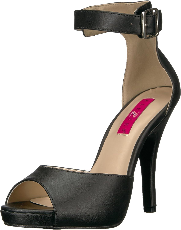 Pleaser Pink Label Women's Eve02 Bpu Platform Dress Sandal, Black Faux Leather, 14 M US