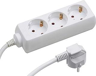 Meister Steckdosenleiste 3-fach - 1,4 m Kabel - weiß - Kunststoffleitung - IP20 Innenbereich / Steckerleiste / Mehrfachsteckdose / Tischsteckdose / Tido 3-fach / 7430010