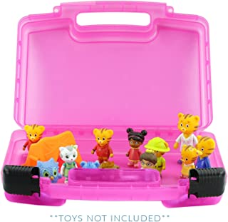 Life Made Better Daniel Tiger Case, Figurines and Accessories Organizer and Carrying Case, Pink