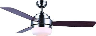 BLACK+DECKER BCF5262R Ceiling Fan, 52 Inches, Brown