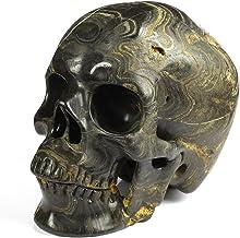 "Skullis 5.0"" Stromatolite Fossil Super Realistic Crystal Skull, Hand Carved Gemstone Fine Art Sculpture, Reiki Healing Sto..."