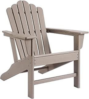 Ehomeline Classic Outdoor Adirondack Chair for Garden Porch Patio Deck Backyard Accent Furniture, Weather Resistant HDPE P...