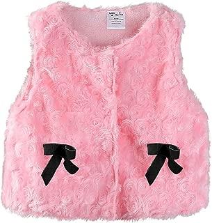 Mud Kingdom Cute Baby Girl Fleece Vests Faux Fur