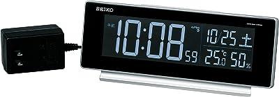 セイコー クロック 目覚まし時計 電波 デジタル 交流式 カラー液晶 シリーズC3 銀色 メタリック DL207S SEIKO