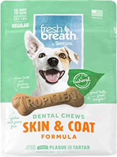 Fresh Breath by TropiClean Dental Chews and Sticks, Made in USA