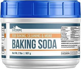 Baking Soda (32 oz (2 lbs)) by Earthborn Elements, Reusable Tub, All-Natural, USP Grade, Antacid, Cooking & Baking, Cleaning & Deodorizing