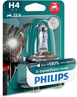 Lampada Moto H4 Philips Xtreme Vision + 130% Luz Cb Fazer Xt