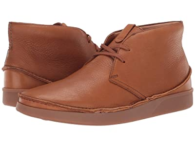 Clarks Oakland Rise (Dark Tan Leather) Men