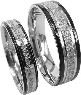Everstone Titanio Nozze Anelli di fidanzamento anello Coppie fede Taglia 7-37