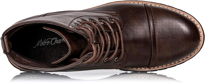 Metrocharm MC312 Men's Lace Up Cap Toe Fashion Oxford Boot