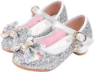 Couleur : Rose, Taille : 26 Yzibei Fantaisie Chaussures Princesse Filles Chaussures à Talons Hauts Chaussures en Cristal Etudiants en Danse Chaussures de Performance Latines