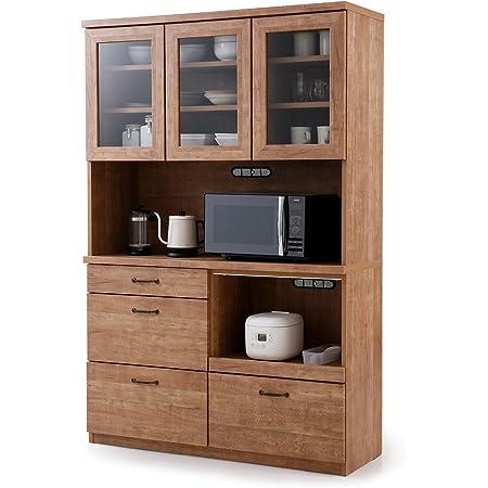 LOWYA ロウヤ 食器棚 キッチン キッチン収納 国産 幅120×高さ181cm ナチュラル