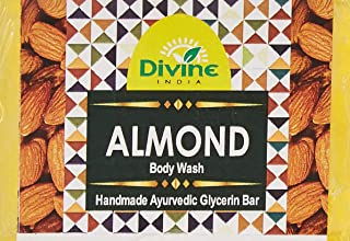 Divine India Almond Soap - Herbal and Handcrafted - 125 Gm (Pack Of 3)