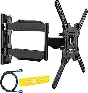 Invision Support TV Mural pour Écrans de 24 à 55 Pouces, Max VESA 400x400mm avec Bras Orientable et Inclinable Extensible ...