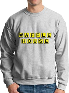 Men's Casual Waffle House Tee T Shirt O-Neck Cotton T-Shirt Sports Tops Tshirt Pullover Hoodie Sweatshirt Winter Outdoor Top